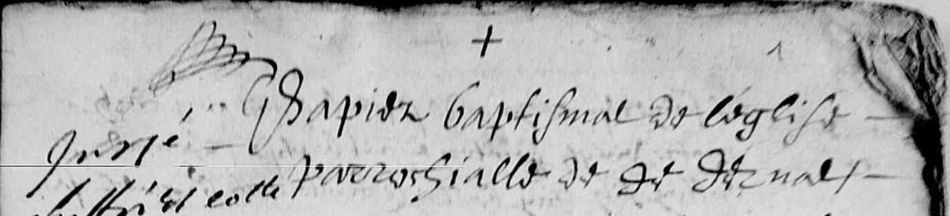 Paptier baptismal de la paroisse de Derval 1594-1629